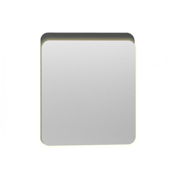 Nest Trendy Ledli Duz Ayna 60 cm,  Parlak Antrasit