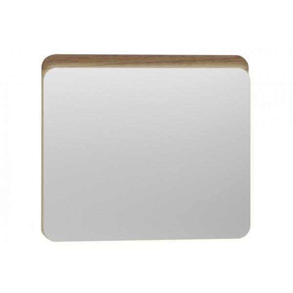 Nest Trendy Ledli Duz Ayna 80 cm,  Hareli Doğal Ahşap
