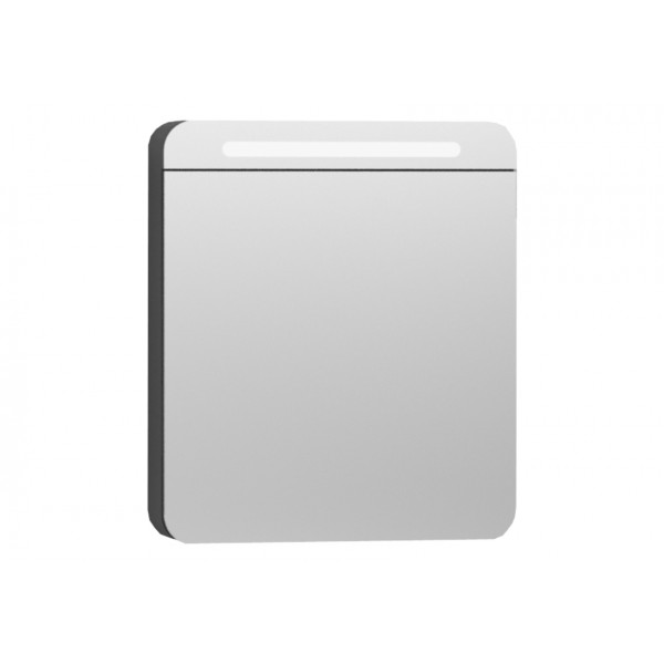 Nest Trendy Dolaplı Ayna 60 cm,  Parlak Antrasit Sağ