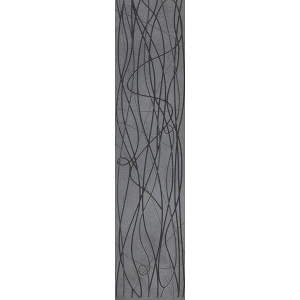 15x60 Bloom Bordür 2 Antrasit Parlak
