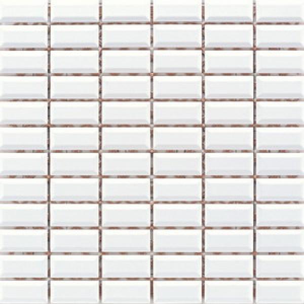2.5x5 Metro Tiles Mozaik Beyaz Parlak
