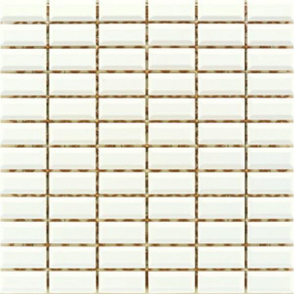 2.5x5 Metro Tiles Mozaik Krem Parlak