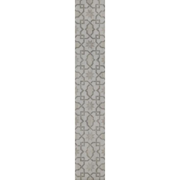 20x120 Pera Dekor 1 Beyaz Mat